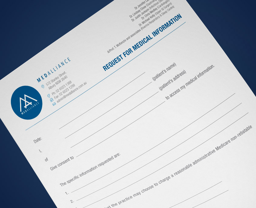 Medical Info Form MedAlliance